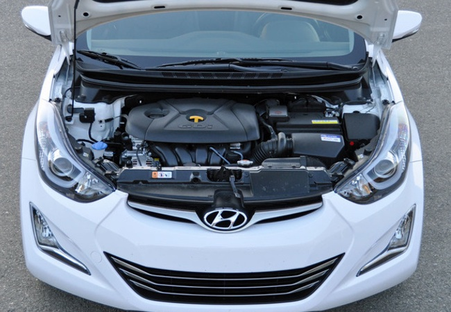 2014 Hyundai Elantra Coupe Engine Bay Pictures